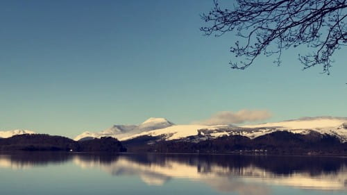 Ben Lomond and Loch Lomond Wintertime