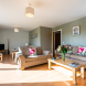 Large open plan living space in Curlew Cottage